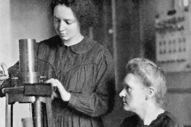 Irene i Marie Curie (1925)